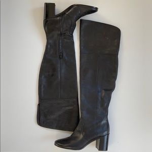 Like new Frye leather over the knee boots
